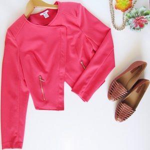 Pink BarIII Moto Jacket Tulip Back Size M